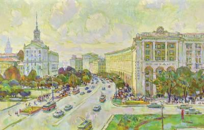 Киев в картинах художника Василия Чегодара