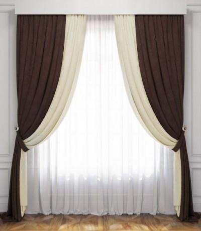 готовые шторы с тюлью