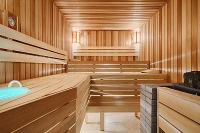 Комбинированная баня с подсветкой