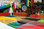 Puma построила в центре столицы баскетбольную площадку