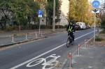 В Соломенском районе Киева обустроили велополосу