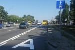 На Харьковском шоссе появилась полоса для общественного транспорта