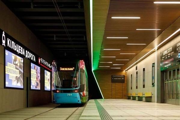 Новая конечная станция киевского трамвая №3 будет внутри ТЦ