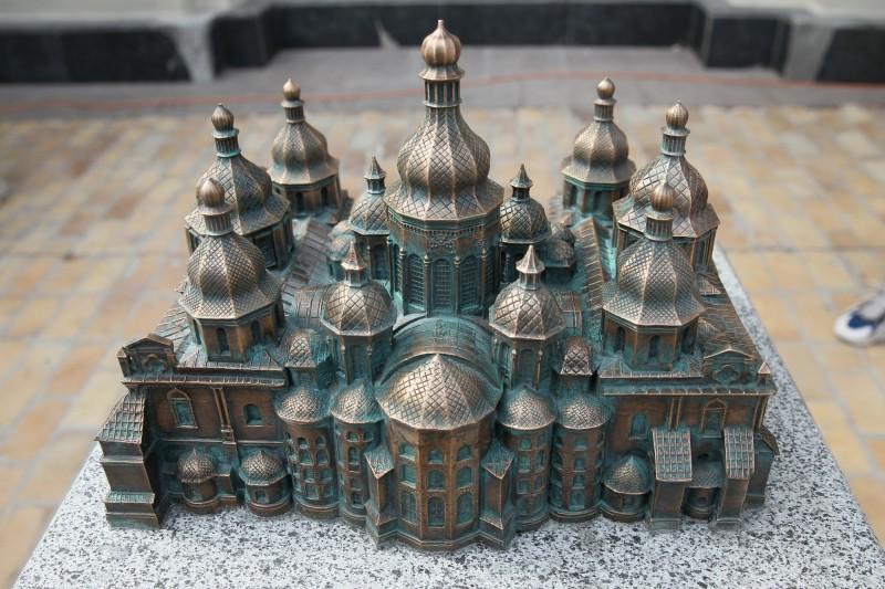 В Киеве открыли 3D-конструкцию Софийского собора