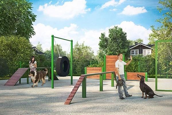 В Киеве создали новые площадки для выгула собак: адреса