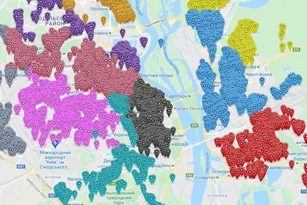 В Киеве создали карту с контейнерами для мусора и графиком вывоза отходов