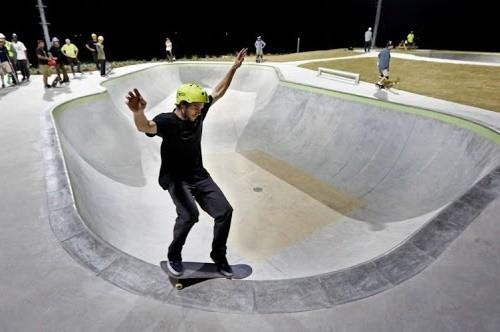 Возле озера Лебединого появился новый скейт-парк