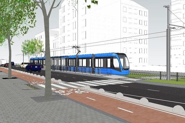 В КГГА рассказали, какой будет новая трамвайная линия до «Дворца спорта»