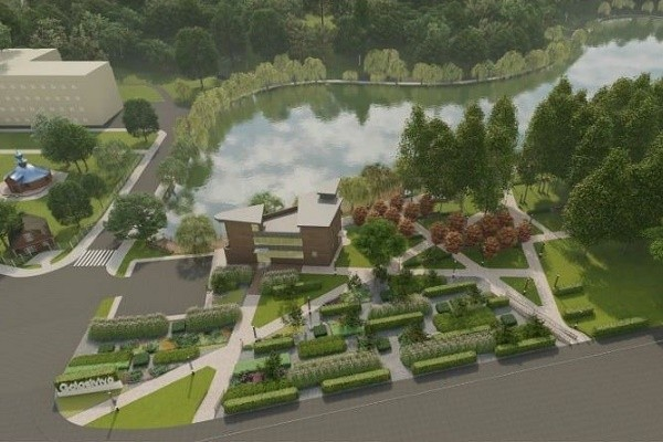 Памп-трек, террасы и сухой фонтан: как обновят Голосеевский парк