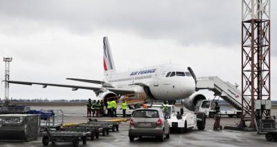 Аэропорт Борисполь - подготовка самолета к полету