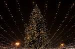 На Софийской площади провели демонтаж главной елки Украины