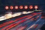 На Столичном шоссе появились элеткронные табло с показателями скорости