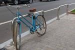 В столице впервые установили антипарковочные велопарковки