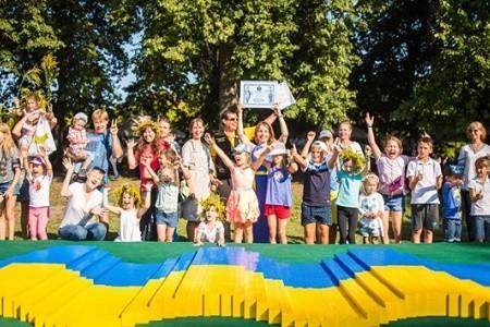 Флаг из Lego и «Карта мечты»: в Киеве установили два новых рекорда