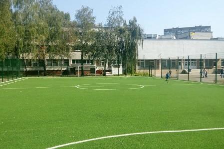 В школе на бульваре Перова реконструируют стадион