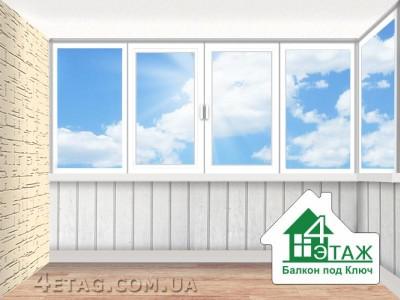 """Окна на балкон. застеклить балкон - компания """"4 этаж"""" 4etag."""