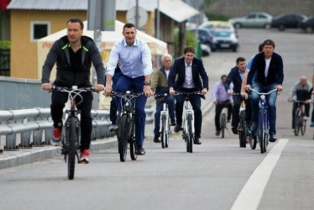 Киевлян приглашают поехать на велосипеде на работу