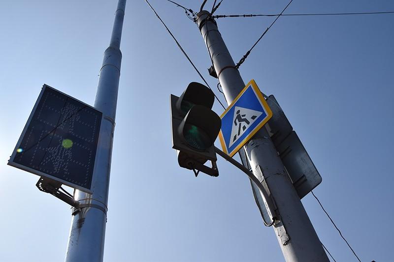 В Киеве устанавливают экспериментальные светофоры