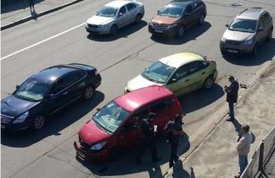 В Киеве произошло масштабное ДТП с участием 12 машин