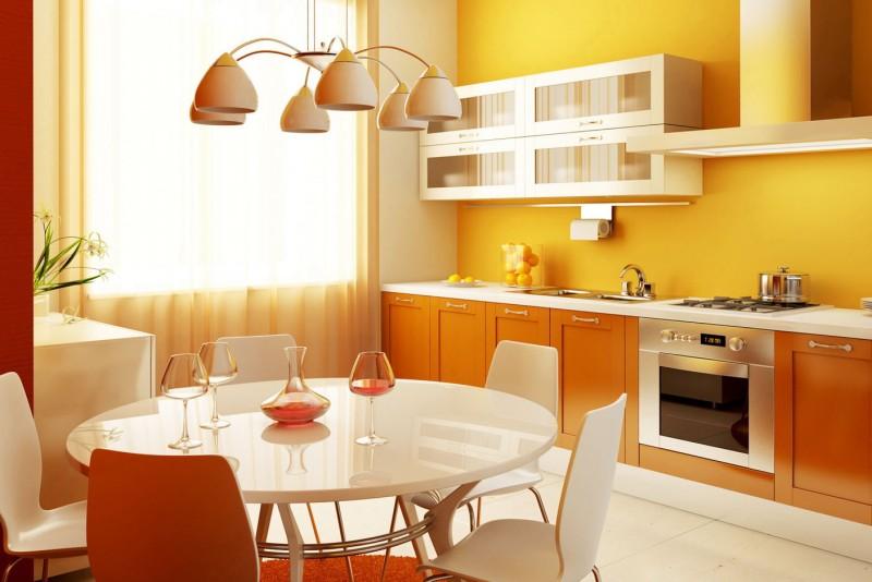 SVETлая кухня с подходящей люстрой