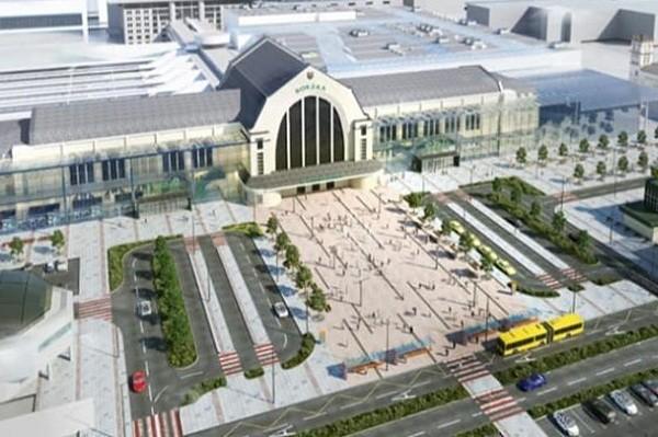 Стало известно, как будет выглядеть Киевский ж/д вокзал после реконструкции: фото