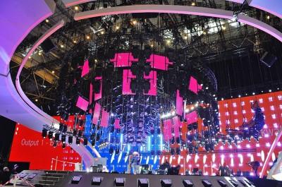 Главная сцена Евровидения-2017 в МВЦ полностью готова (фото)
