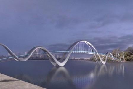 Большие волны: в сети показали, как будет выглядеть новый мост на Оболони