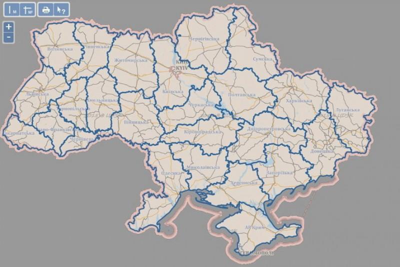 Кадастровая карта Украины - корректировки и уточнение данных