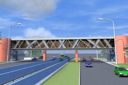В столице продолжается реконструкция пешеходных мостов над проспектами Курбаса и Гузара