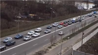 Как в Киеве объезжают пробки